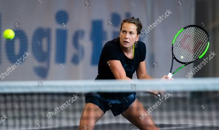 Barbora Strycova of the Czech Republic during practice at the 2019 Upper Austria Ladies Linz WTA International tennis tournament
