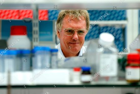 Scientist Peter J.Ratcliffe poses for photos in the laboratory at the University in Oxford, England, . Two Americans and a British scientist won the 2019 Nobel Prize for Physiology or Medicine for discovering how the body's cells sense and react to oxygen levels, work that has paved the way for new strategies to fight anemia, cancer and other diseases Drs. William G. Kaelin Jr. of Harvard University, Gregg L. Semenza of Johns Hopkins University and Peter J. Ratcliffe at the Francis Crick Institute in Britain and Oxford University will share the 9 million kronor ($918,000) cash award