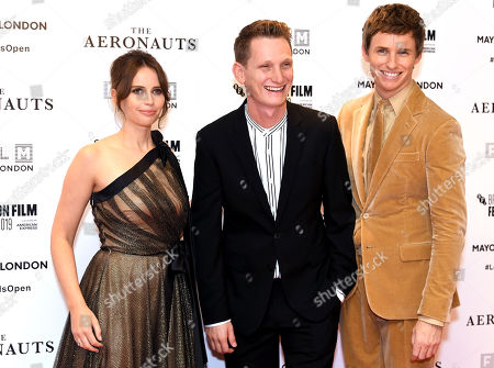 Felicity Jones, Tom Harper and Eddie Redmayne