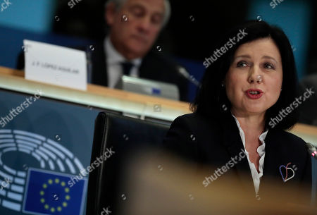 European Commissioner designate for Values and Transparency Vera Jourova answers questions during her hearing at the European Parliament in Brussels