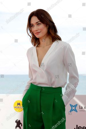 Ukranian actress and cast member Olga Kurylenko poses during the presentation of the movie 'The Room' at the 52nd Sitges International Fantastic Film Festival, in Sitges, Catalonia, Spain, 07 October 2019. The festival runs from 03 to 13 October.