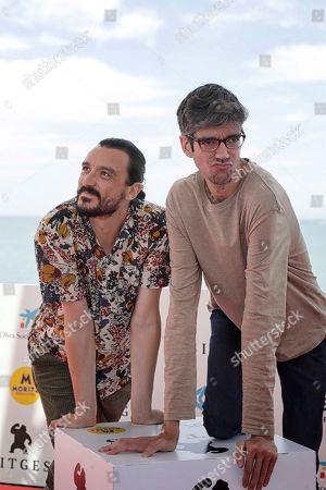 Actors/cast members David Pareja (L) and Javier Botet (R) pose during the presentation of the movie 'Amigo' at the 52nd Sitges International Fantastic Film Festival, in Sitges, Catalonia, Spain, 07 October 2019. The festival runs from 03 to 13 October.