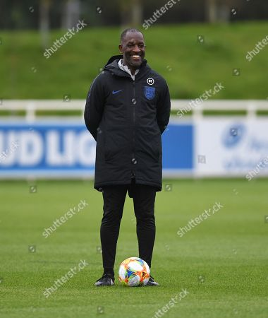 Chris Powell during a training session ahead of the Euro 2020 qualifiers against the Czech Republic and Bulgaria