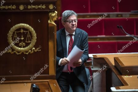 Member of Parliament and president of La France Insoumise (France Unbowed) party, Jean-Luc Melenchon attends a debate on migration at the National Assembly in Paris, France, 07 October 2019.