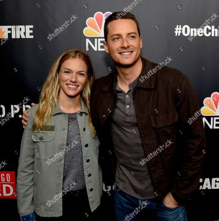 Stock Photo of Tracy Spiridakos and Jesse Lee Soffer