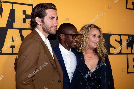 Jake Gyllenhaal, Troy Carter and Riva Marker