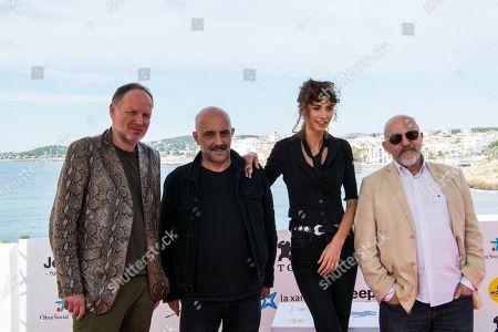 Yannick Bono with Gaspar Noe, Charlotte Gainsbourg and Maxime Ruiz
