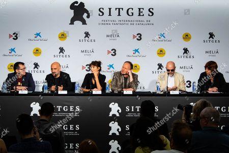 Stock Image of Angal Sala with Gaspar Noe, Charlotte Gainsbourg, Yannick Bono and Maxime Ruiz