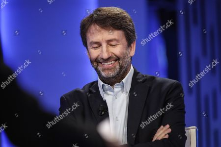 Stock Image of Italian Minister of Cultural Heritage and Activities, Dario Franceschini attends the La7 Italian program 'Otto e mezzo' conducted by Italian journalist Lilli Gruber in Rome, Italy, 07 October 2019.