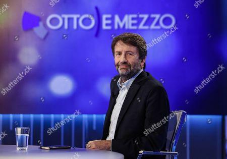 Italian Minister of Cultural Heritage and Activities, Dario Franceschini attends the La7 Italian program 'Otto e mezzo' conducted by Italian journalist Lilli Gruber in Rome, Italy, 07 October 2019.