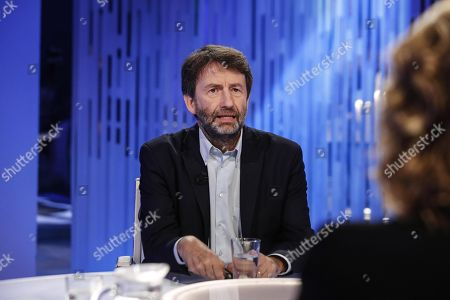 Editorial picture of Italian Minister of Cultural Heritage and Activities, Dario Franceschini at TV program, Rome, Italy - 07 Oct 2019