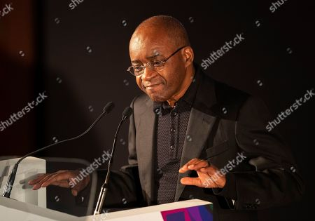 Tech billionaire Strive Masiyiwa speaks during the 9th Annual Desmond Tutu International Peace Lecture at the Cape Town City Hall, South Africa 07 October 2019. Archbishop Emeritus Desmond Tutu celebrates his 88th birthday on 07 October. The lecture by Zimbabwean-born businessman and philanthropist, Strive Masiyiwa, focused on one of the critical struggles of our time: Overcoming corruption and restoring citizen trust, locally and globally.