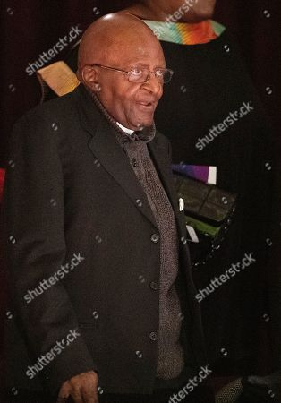 Nobel Peace laureate Archbishop Emeritus Desmond Tutu attends the 9th Annual Desmond Tutu International Peace Lecture at the Cape Town City Hall, South Africa, 07 October 2019. Archbishop Emeritus Desmond Tutu celebrates his 88th birthday on 07 October. The lecture by Zimbabwean-born businessman and philanthropist, Strive Masiyiwa, focused on one of the critical struggles of our time: Overcoming corruption and restoring citizen trust, locally and globally.