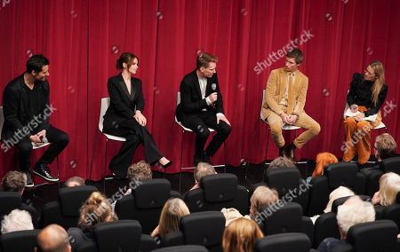 Todd Lieberman, Felicity Jones, Tom Harper, Eddie Redmayne and Edith Bowman attend the AMPAS BAFTA Screening