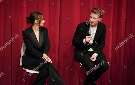 Felicity Jones and Tom Harper attend the AMPAS BAFTA Screening