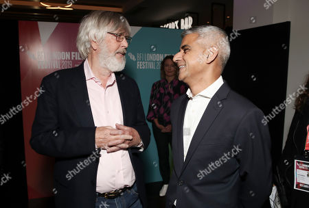 Stock Picture of Tom Courtenay and Sadiq Khan