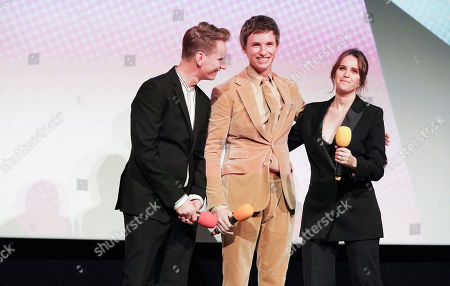 Tom Harper, Eddie Redmayne and Felicity Jones attend the Embankment Screening