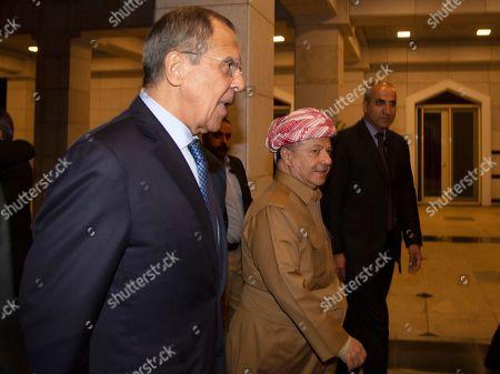 Editorial picture of Russian FM Lavrov in Erbil, Iraq - 07 Oct 2019