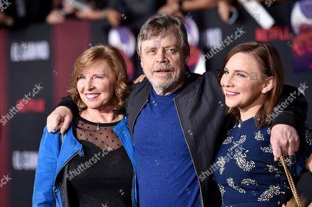 Marilou York, Mark Hamill and Chelsea Hamill