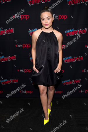 """Sarah Jeffery attends New York Comic Con to promote The CW's """"Charmed"""" at the Jacob K. Javits Convention Center, in New York"""