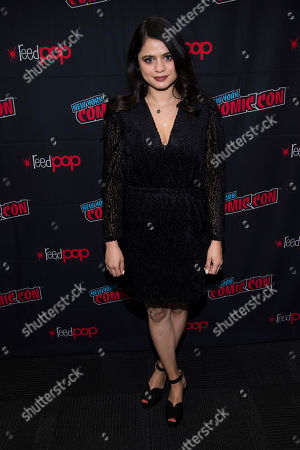 """Stock Picture of Melonie Diaz attends New York Comic Con to promote The CW's """"Charmed"""" at the Jacob K. Javits Convention Center, in New York"""