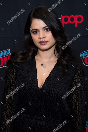 """Melonie Diaz attends New York Comic Con to promote The CW's """"Charmed"""" at the Jacob K. Javits Convention Center, in New York"""