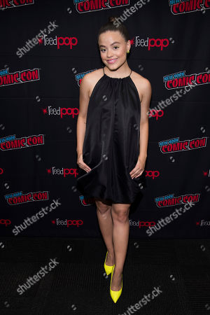 """Stock Picture of Sarah Jeffery attends New York Comic Con to promote The CW's """"Charmed"""" at the Jacob K. Javits Convention Center, in New York"""
