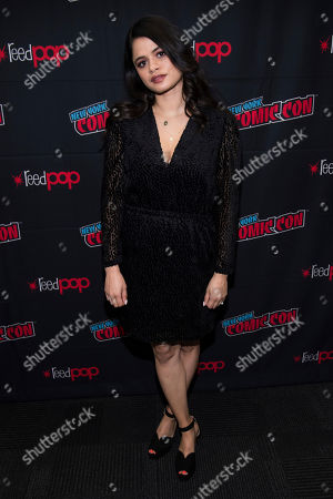 """Stock Image of Melonie Diaz attends New York Comic Con to promote The CW's """"Charmed"""" at the Jacob K. Javits Convention Center, in New York"""