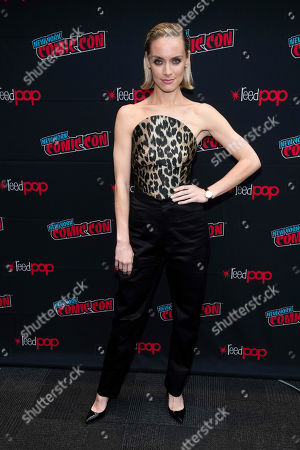 """Stock Photo of Rachel Skarsten attends New York Comic Con to promote The CW's """"Batwoman"""" at the Jacob K. Javits Convention Center, in New York"""