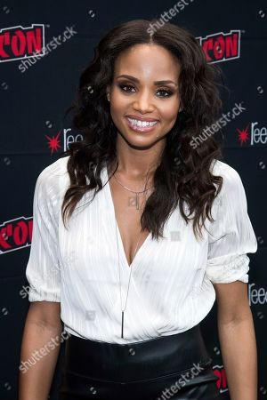 """Meagan Tandy attends New York Comic Con to promote The CW's """"Batwoman"""" at the Jacob K. Javits Convention Center, in New York"""