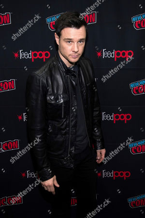 """Stock Image of Rupert Evans attends New York Comic Con to promote The CW's """"Charmed"""" at the Jacob K. Javits Convention Center, in New York"""
