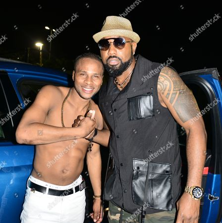 Reggae Singer Dexta Daps and Da'Ville backstage