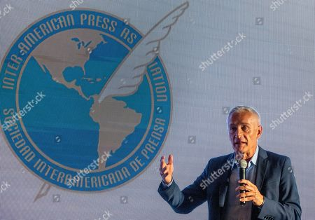 Stock Image of Journalist Jorge Ramos speaks during the 75th General Assembly of the Inter American Press Association (IAPA), in Coral Gables, Florida, USA, 07 October 2019.