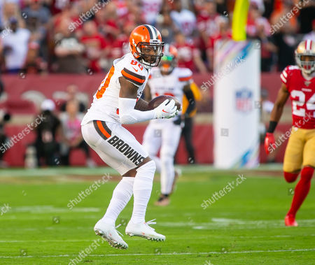 Cleveland Browns wide receiver Jarvis Landry (80) in action during the NFL football game between the Cleveland Browns and the San Francisco 49ers at Levi's Stadium in Santa Clara, CA. The 49ers defeated the Browns 31-3