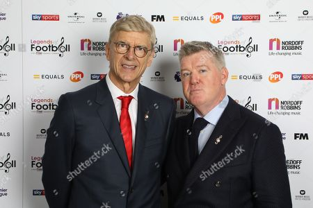 Arsene Wenger with Geoff Shreeves