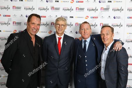 Arsene Wenger with David Seaman, Ray Parlour and Lee Dixon