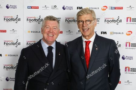 Geoff Shreeves with Arsene Wenger