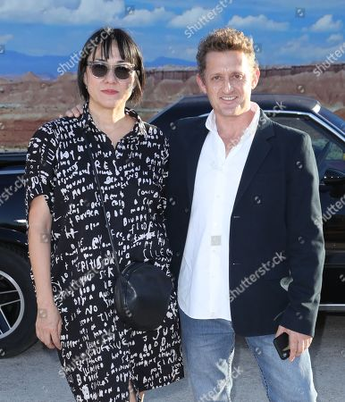 Alex Winter and wife