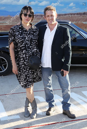 Stock Picture of Alex Winter and wife