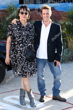 Stock Photo of Alex Winter and his wife
