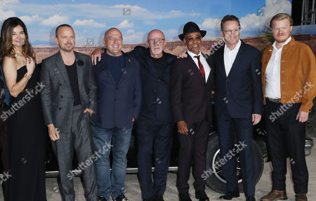 Betsy Brandt, Aaron Paul, Dean Norris, Jonathan Banks, Giancarlo Esposito, Bryan Cranston and Jesse Plemons