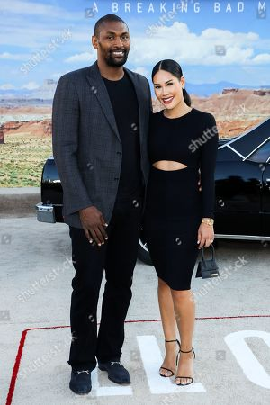 Stock Image of Ron Artest and Maya Ford