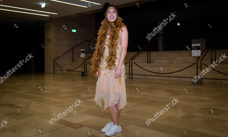 Alize Cornet of France arrives at the players party ahead of the WTA International tennis tournament
