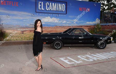 "Sophia Bush arrives at the Los Angeles premiere of ""El Camino: A Breaking Bad Movie"" at the Regency Village Theatre on in Westwood, Calif"
