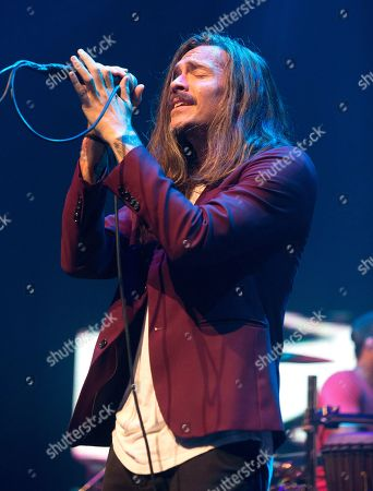 "Brandon Boyd of the band Incubus performs in concert during their ""20 Years of Make Yourself and Beyond Tour"" at The Met, in Philadelphia"