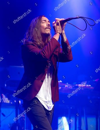 "Brandon Boyd of the band Incubus performs in concert during their ""20 Years of Make Yourself and Beyond Tour,"" at The Met, in Philadelphia"