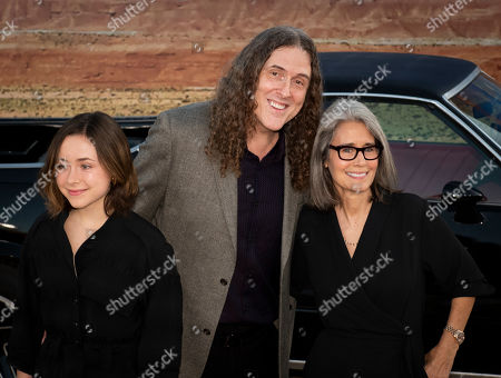 Weird Al Yankovic (C) poses for photographers with his wife Suzanne Yankovic (R) and their daughter, Nina Yankovic (L), as they arrive at the premiere of the Netflix production El Camino: A Breaking Bad Movie, at the Regency Village Theatre in Los Angeles, USA, 07 October 2019.