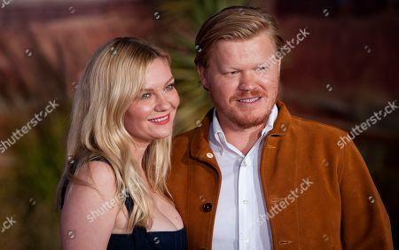 Kirsten Dunst (L) and Jesse Plemons (R) arrive at the premiere of Netflix's 'El Camino: A Breaking Bad Movie' at the Regency Village Theatre in Los Angeles, USA, 07 October 2019.