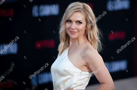 Rhea Seehorn poses for photographers as she arrives at the premiere of the Netflix production El Camino: A Breaking Bad Movie, at the Regency Village Theatre in Los Angeles, USA, 07 October 2019.