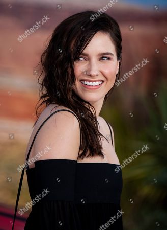 Sophia Bush arrives at the premiere of the Netflix production El Camino: A Breaking Bad Movie, at the Regency Village Theatre in Los Angeles, USA, 07 October 2019.